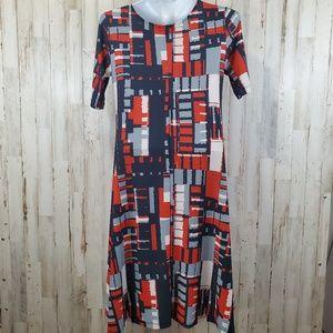 LBISSE Dresses - LBISSE Dress Multi-Colored Short Sleeve A-Line